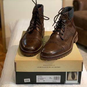 Johnston & Murphy Karnes Cap Toe Boot US12M